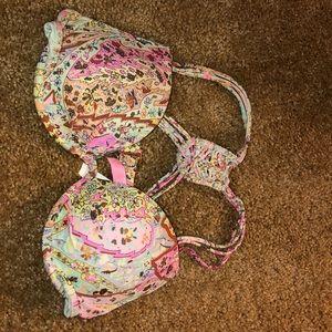 Paisley/Floral Bikini Top